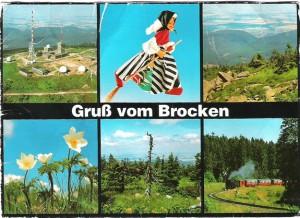 Karte vom Brocken