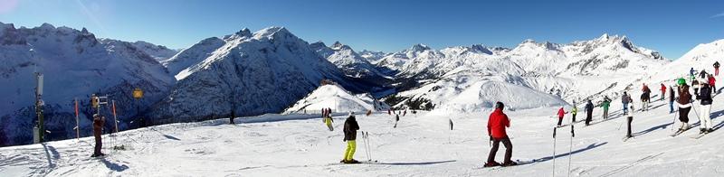 Panorama am Kriegerhorn