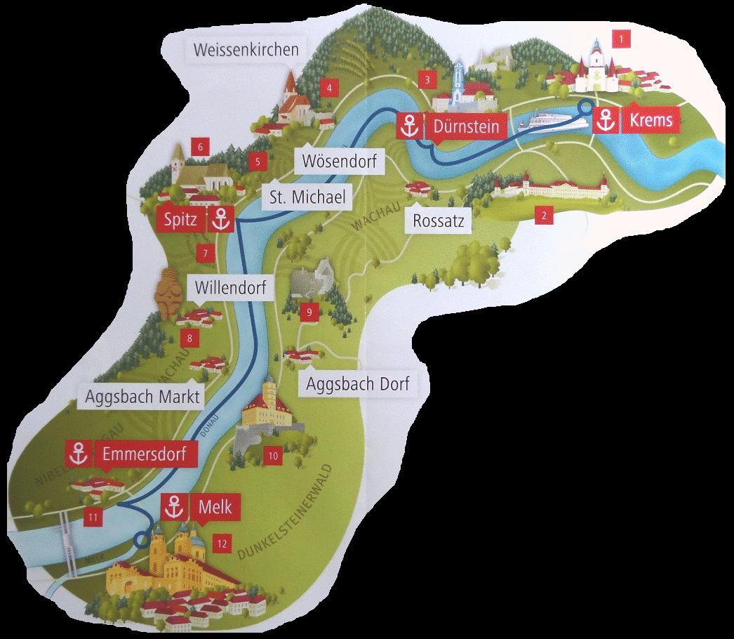 Wachau Karte Donau.Urlaub 2014 Teil I Wachau Skwei De