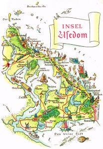 Karte Usedom