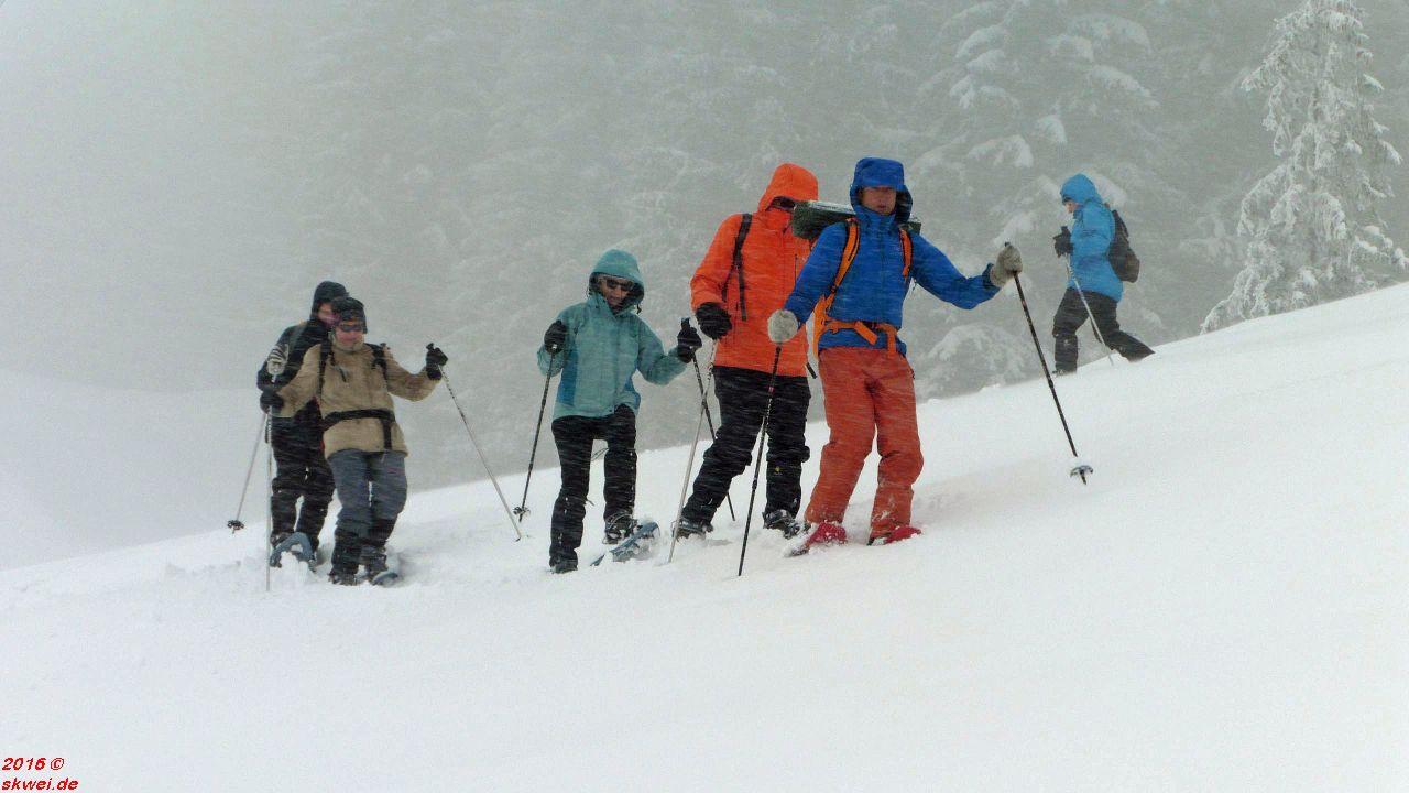 Schneeschuhwanderung auf dem Hochhederich