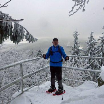 Mit Schneeschuhen am Rennsteig unterwegs