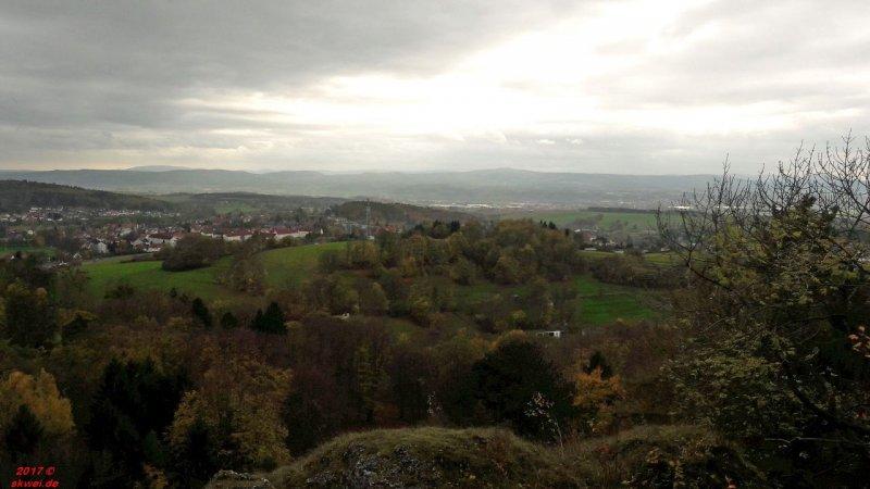 Blick auf Bad Liebenstein und in die Rhön