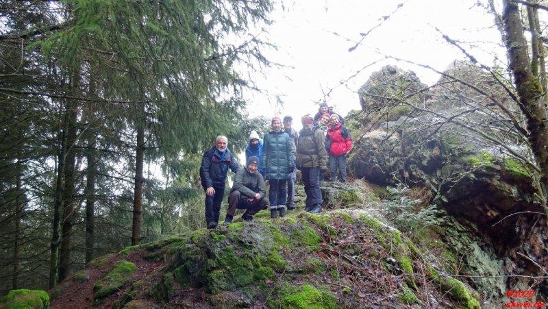 Gruppenbild am Aussichtsfelsen